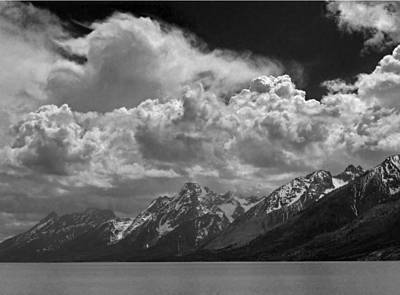 Photograph - 1m9234-bw Clouds Over Mt. Moran by Ed Cooper Photography