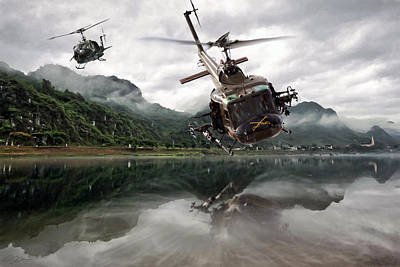 Helicopter Digital Art - 1st Cavalry Assault  by Peter Chilelli