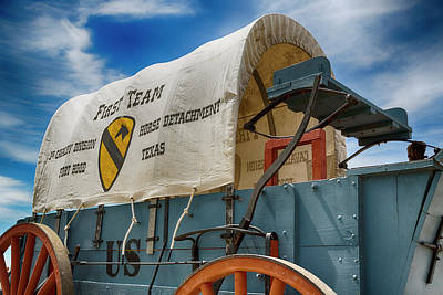 1st Cavalry Division Fort Hood - Horse Detachment Art Print by Stephen Stookey