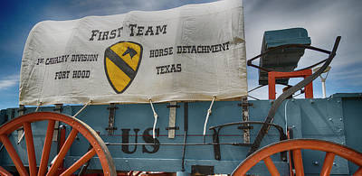 Armed Services Photograph - 1st Cavalry Division Horse Detachment - Fort Hood by Stephen Stookey