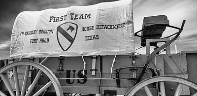 Armed Services Photograph - 1st Cavalry Division Horse Detachment by Stephen Stookey