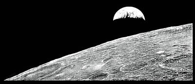 Photograph - 1st. Earth Photograph From The Moon by Rob Hans