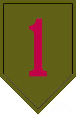 1st Infantry Division Shoulder Sleeve Art Print