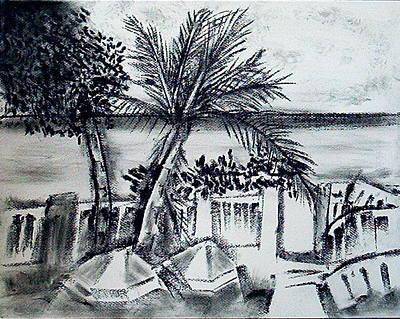 1st La Playa  Art Print