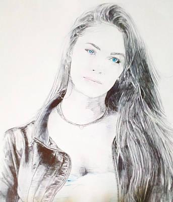 Megan Fox Drawing - 1st Megan Fox by Benjamin McDaniel