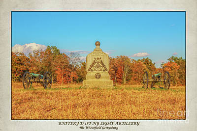 Digital Art - 1st New York Battery D Gettysburg Poster by Randy Steele