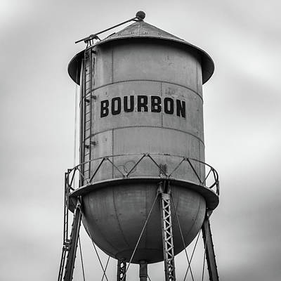 Photograph - 1x1 Bourbon Tower Black And White Art by Gregory Ballos