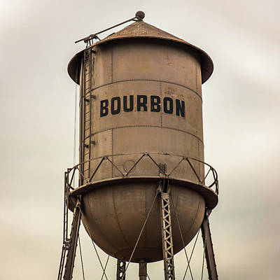 Photograph - 1x1 Bourbon Tower Sepia Art by Gregory Ballos