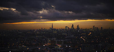 London Skyline Royalty-Free and Rights-Managed Images -  City of London skyline  panarama by David French
