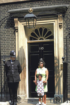 Photograph - Proud Mother At 10 Downing Street by Carl Purcell