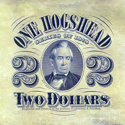 1878 Hogshead Beer Tax Stamp  Art Print