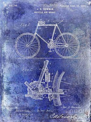 Schwinn Wall Art - Digital Art - 1893 Bicycle Patent by Jon Neidert