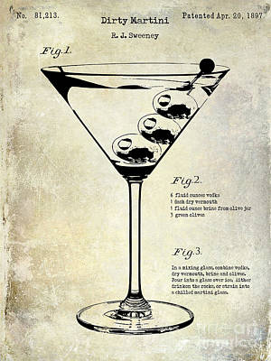 1897 Dirty Martini Patent Print by Jon Neidert