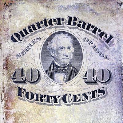 1901 Quarter Beer Barrel Tax Stamp Art Print by Jon Neidert