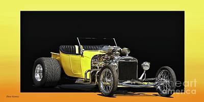 1923 Ford Model T Roadster Pickup Art Print by Dave Koontz