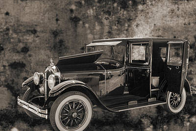 Photograph - 1924 Buick Duchess Antique Vintage Photograph Fine Art Prints 10 by M K  Miller