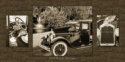 Photograph - 1924 Buick Duchess Antique Vintage Photograph Fine Art Prints 121 by M K  Miller