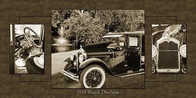 Photograph - 1924 Buick Duchess Antique Vintage Photograph Fine Art Prints 121 by M K Miller