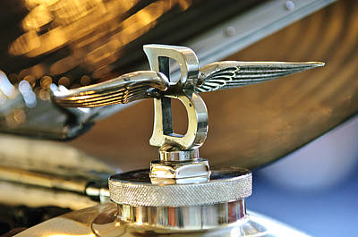 Photograph - 1927 Bentley 6.5 Litre Sports Tourer Hood Ornament by Jill Reger