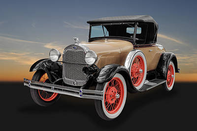 Photograph - 1929 Ford Model A Convertible by Frank J Benz