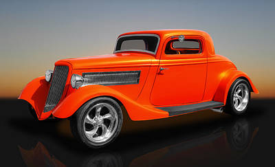 Photograph - 1933 Ford 3 Window Coupe by Frank J Benz