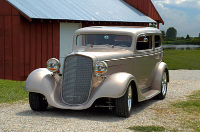 Photograph - 1934 Chevrolet Sedan Hot Rod by Tim McCullough