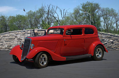 Photograph - 1934 Ford Sedan Hot Rod by Tim McCullough