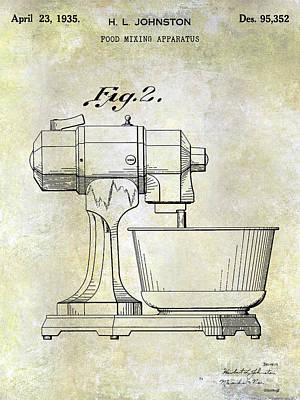 Hobart Photograph - 1935 Food Mixing Apparatus Patent  by Jon Neidert