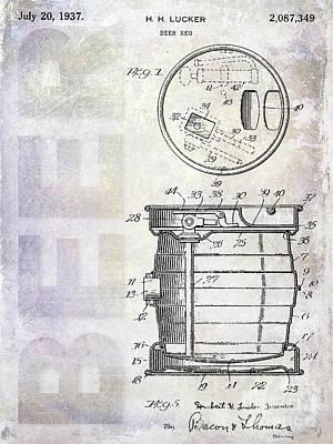 Modern Micro Art Photograph - 1937 Beer Keg Patent by Jon Neidert