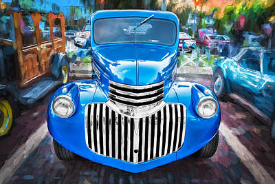 Pickup Truck Door Photograph - 1938 Chevrolet Pick Up Truck Painted  by Rich Franco