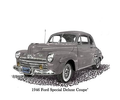 Painting - 1946 Ford Special Deluxe Coupe by Jack Pumphrey