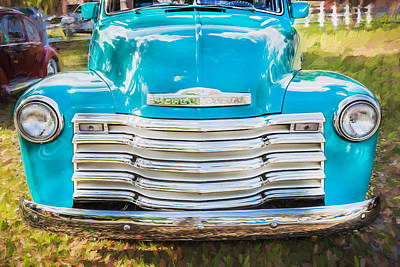 1952 Chevrolet 3100 Series Pick Up Truck Painted  Art Print