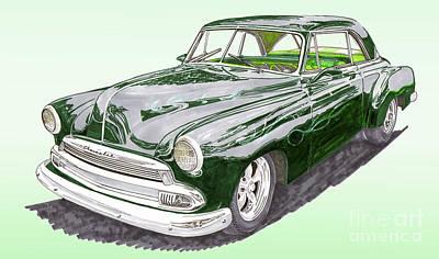 Painting - 1952 Chevrolet Bel Air by Jack Pumphrey