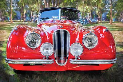 1954 Jaguar Xk 120 Se Ots Art Print by Rich Franco