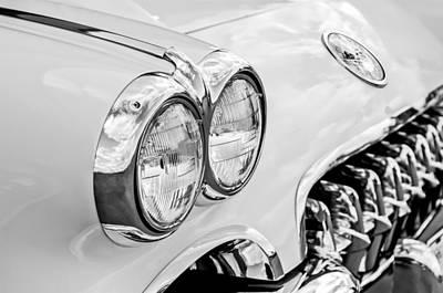 1959 Chevrolet Corvette Grille Art Print by Jill Reger