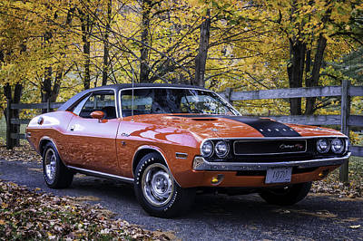 Hot Wheels Photograph - 1970 Dodge Challenger Rt  by Expressive Landscapes Fine Art Photography by Thom