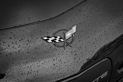 Photograph - 2002 Corvette Ls1 Painted Bw by Rich Franco