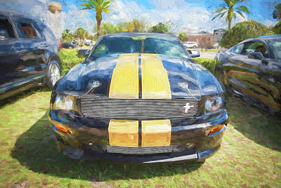 Photograph - 2007 Ford Shelby Hertz Mustang Gth Convertible   by Rich Franco