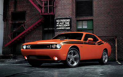 Challenger Digital Art - 2014 Dodge Challenger Rt Classic by Anne Pool