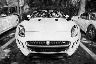 Jaguar F-type Photograph - 2016 Jaguar F Type Coupe Painted Bw by Rich Franco