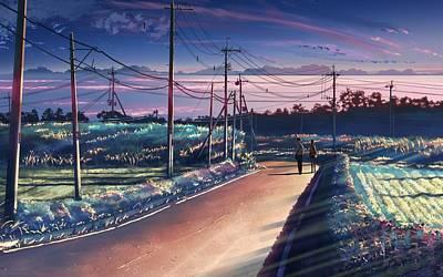 Transportation Digital Art - 5 Centimeters Per Second by Super Lovely