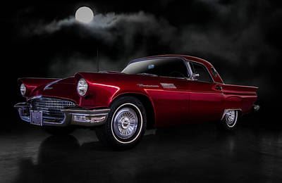 Digital Art - '57 T-bird by Douglas Pittman