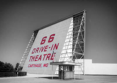 Drive In Theater Photograph - 66 Drive - In Theatre by Mountain Dreams