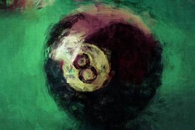 Billiard Balls Digital Art - 8 Ball Abstract by David G Paul