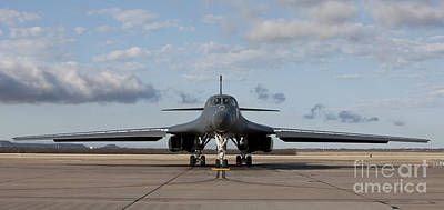 Lancer Photograph - A B-1b Lancer At Dyess Air Force Base by HIGH-G Productions
