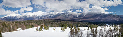 Photograph - A Beautiful Panorama Of The Presidential Mountain Range In New H by Natalie Rotman Cote