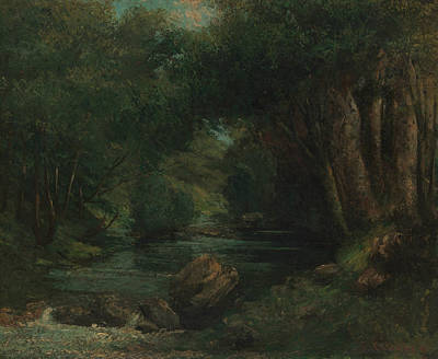 Painting - A Brook In The Forest by Gustave Courbet