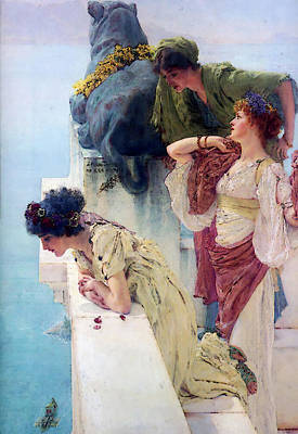 Digital Art - A Coign Of Vantage by Sir Lawrence Alma Tadema