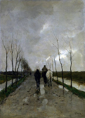 Mauve Painting - A Dutch Road by Anton Mauve