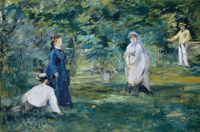 A Game Of Croquet  Art Print by Edouard Manet